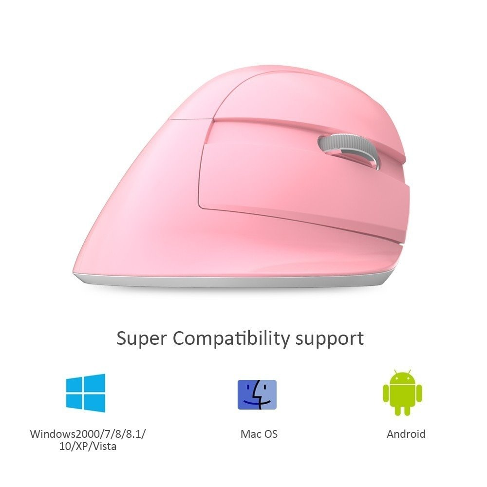 Delux M618 Mini Ergonomic Vertical Mouse Bluetooth Vertical Mouse  2.4 Ghz Wireless Vertical Mouse Ergonomic RGB Backlit