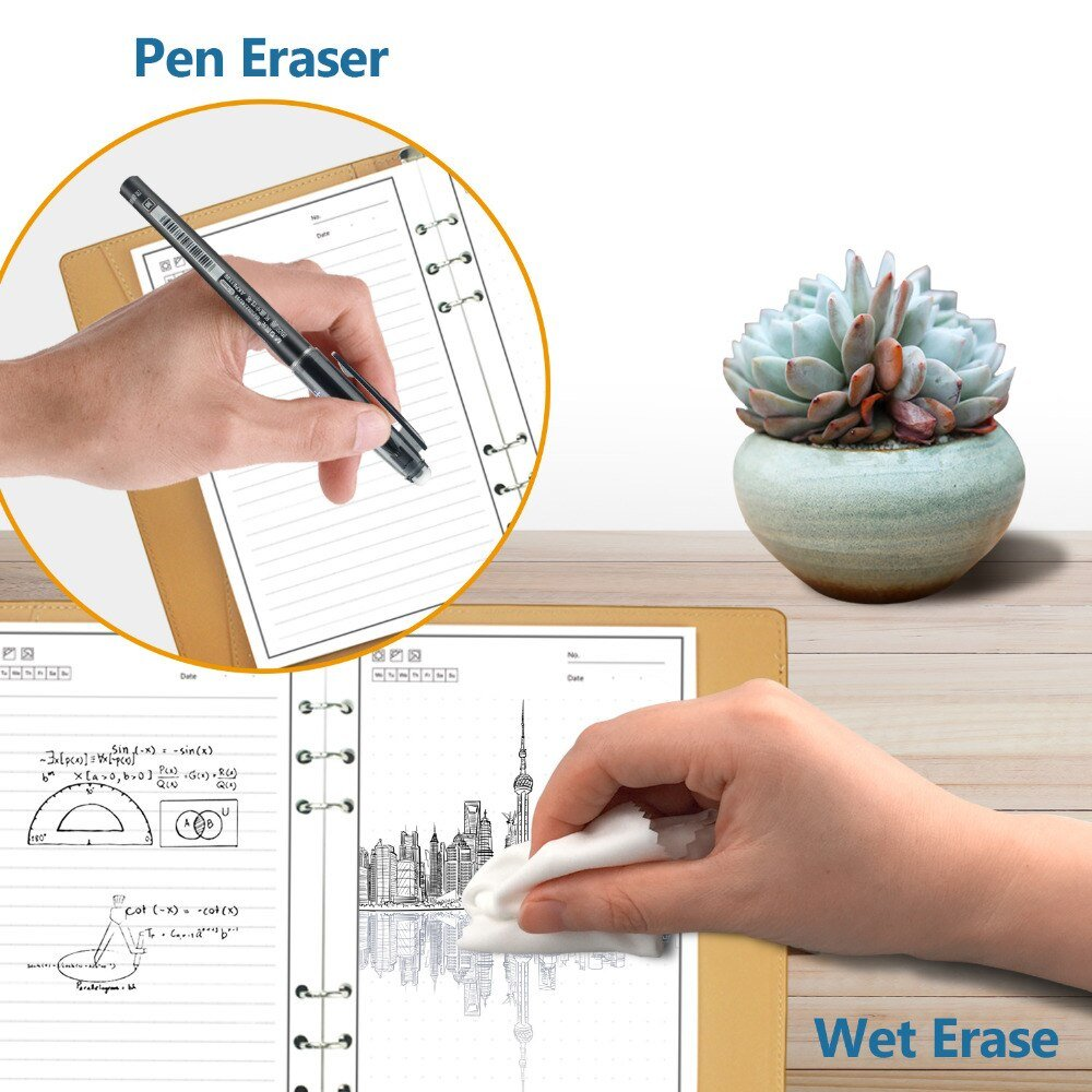 Newyes Smart Reusable Erasable Notebook Microwave Wave Cloud Erase Notepad Note Pad Lined With Pen pocketbook Dropshipping