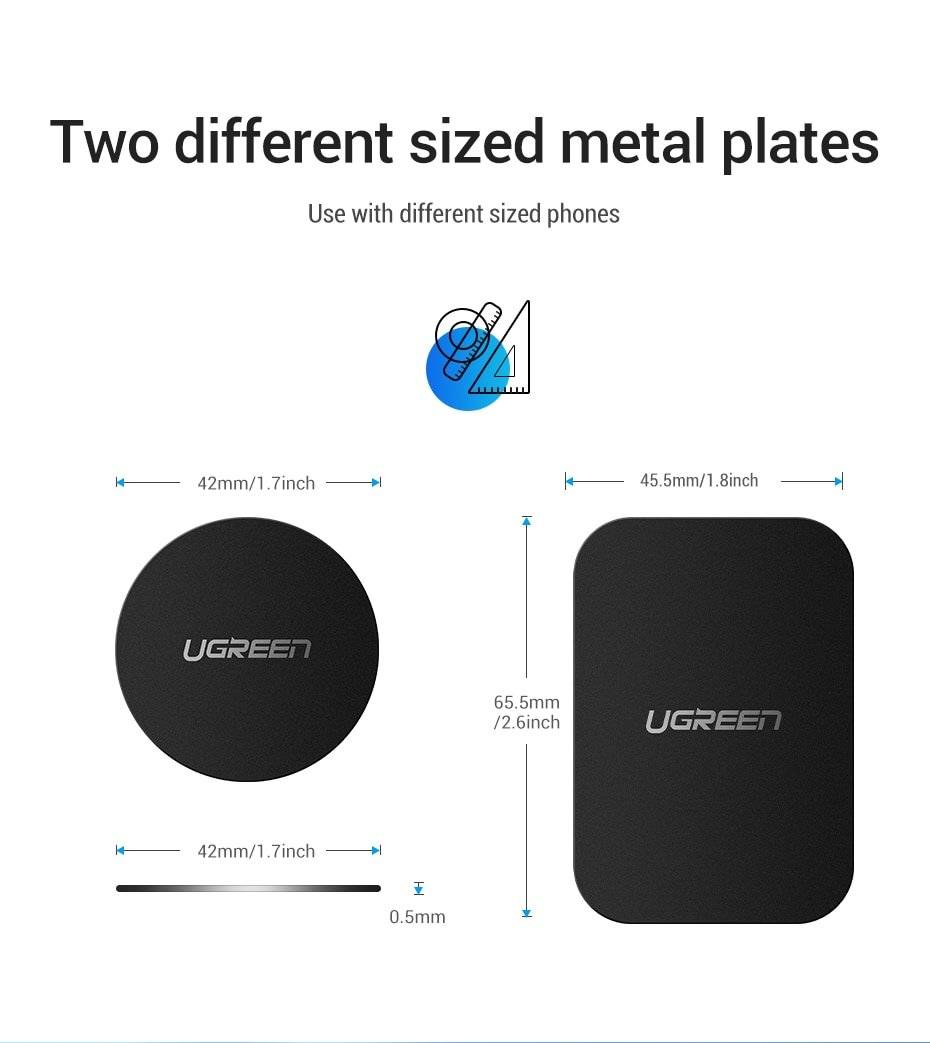 Ugreen Car Phone Holder Metal Plate Magnet Disk For iPhone x Magnetic Stand Support Smartphone Voiture Accessory Celular Holder