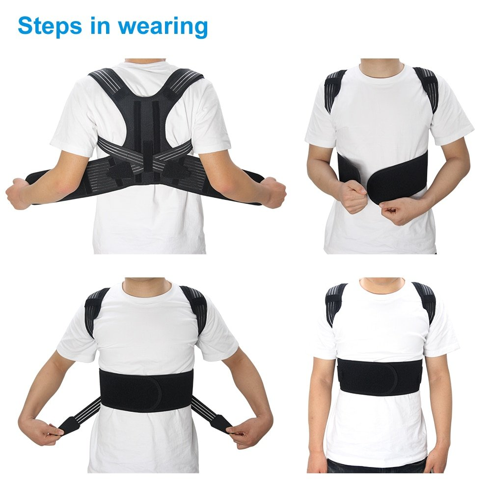 Aptoco Posture Corrector Brace Shoulder Back Support Belt for Unisex Braces & Supports Belt Shoulder Posture Dropshipping