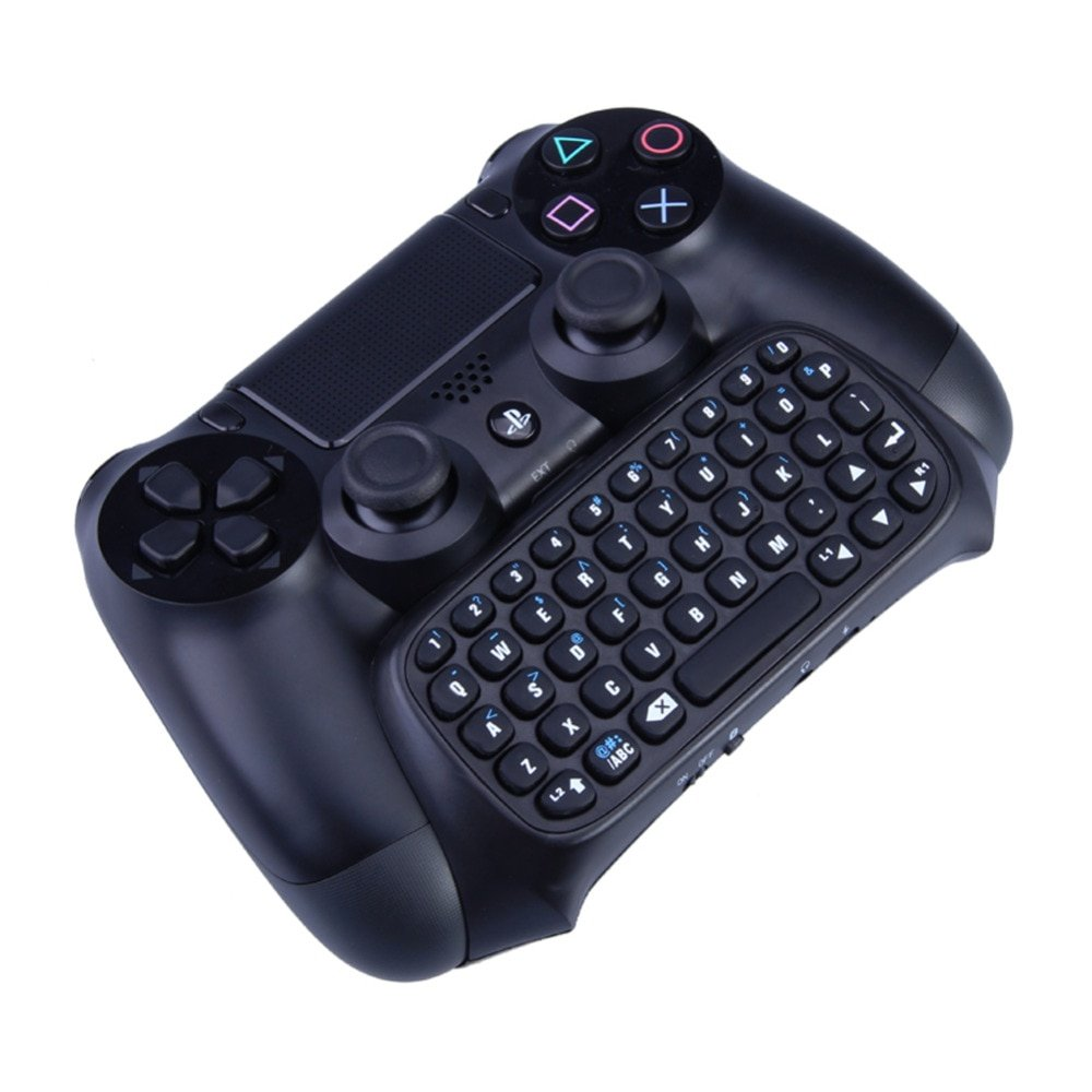 Bluetooth gaming keyboard Wireless Chatpad Message Keyboard Joystick Accessories for Sony Playstation 4 PS4 Gaming Controller