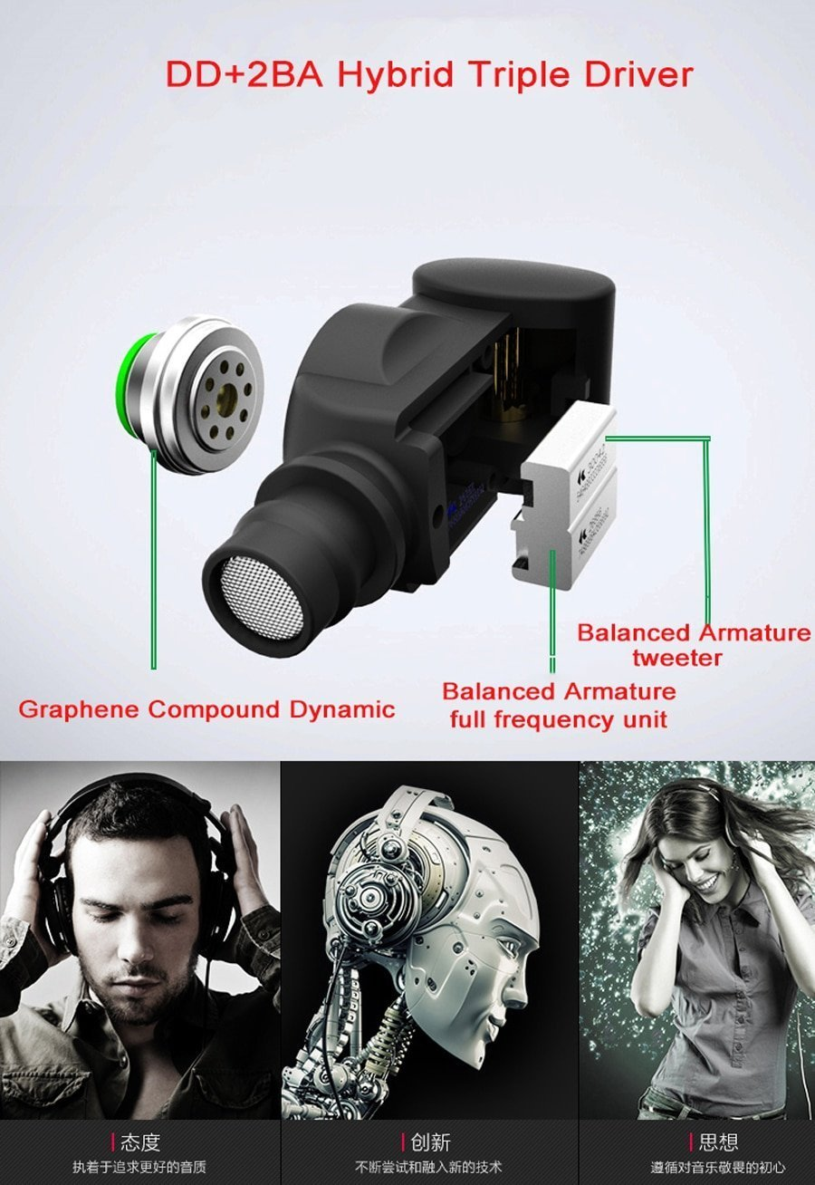 SENFER XBA 6IN1 Hybrid Graphene dynamic Knowles Balanced Armature earphones In Ear DJ HIFI Monitor IEM With MMCX K3003 K2 SE846
