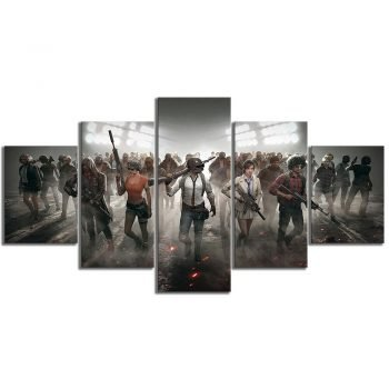 Pubg Characters Playerunknowns Battlegrounds Video Game Poster Canvas Painting Wall Art for Home Decor