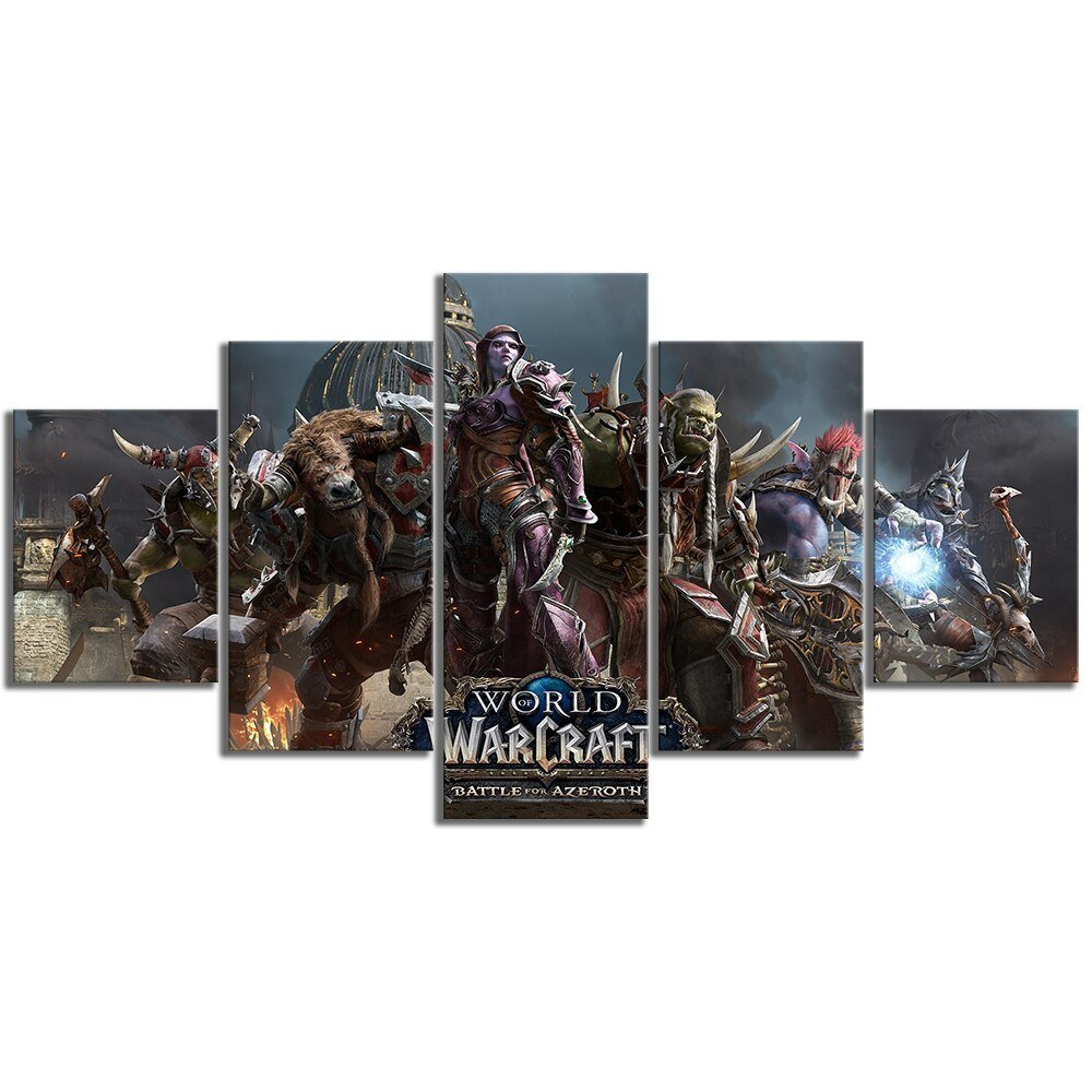 Fan Art World of Warcraft Battle for Azeroth Video Game Canvas Poster Canvas Art HD Wall Paintings for Home Decor