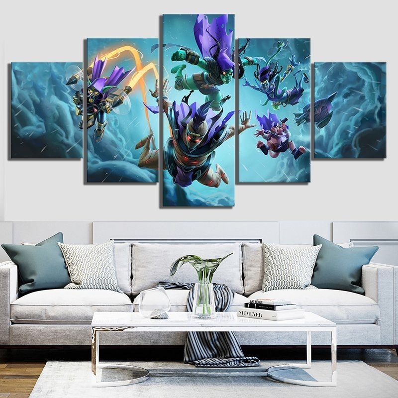 5 Piece Hearthstone Conspiracy of The Shadows Video Game Poster Paintings Heroes of Warcraft Pictures Wall Paintings Home Decor