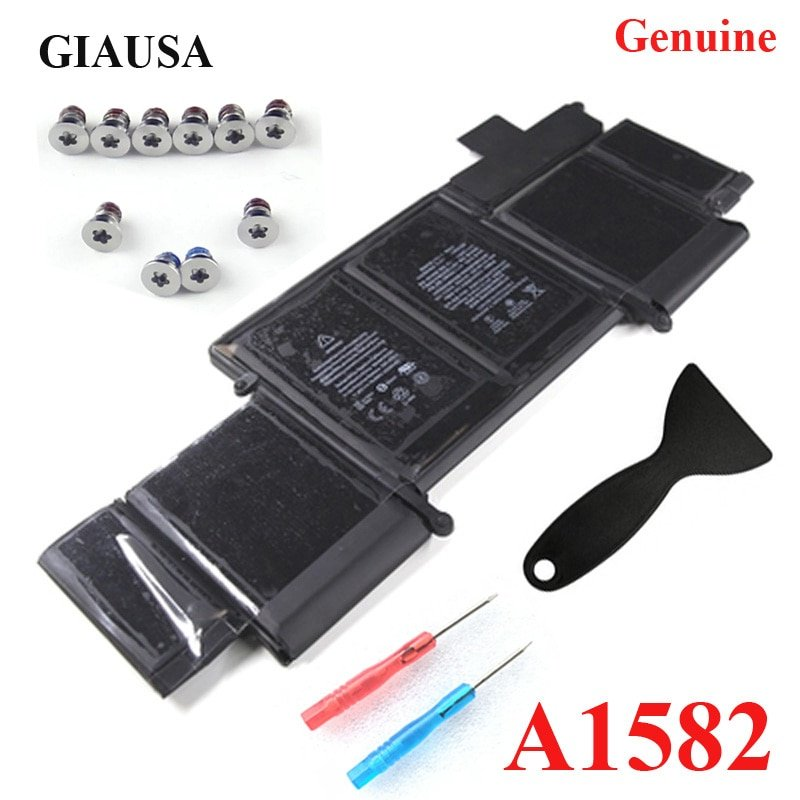 Wholesale Genuine A1582 battery for macbook pro 13'' A1502 battery 2015 retina 74.9wh Free Tools Base Screws