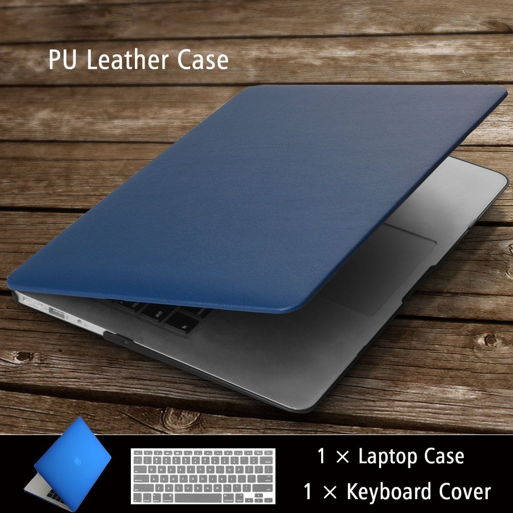 High quality Business PU Leather Laptop Cases for MAC APPLE MacBook Air Pro Retina 11 12 13 15 inch +Keyboard cover