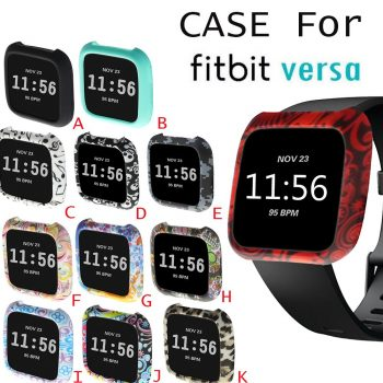TPU Silicone Cover Case Watch Casing Guard Protector For Fitbit Versa Smart Band wearable devices smartwatch watch phone