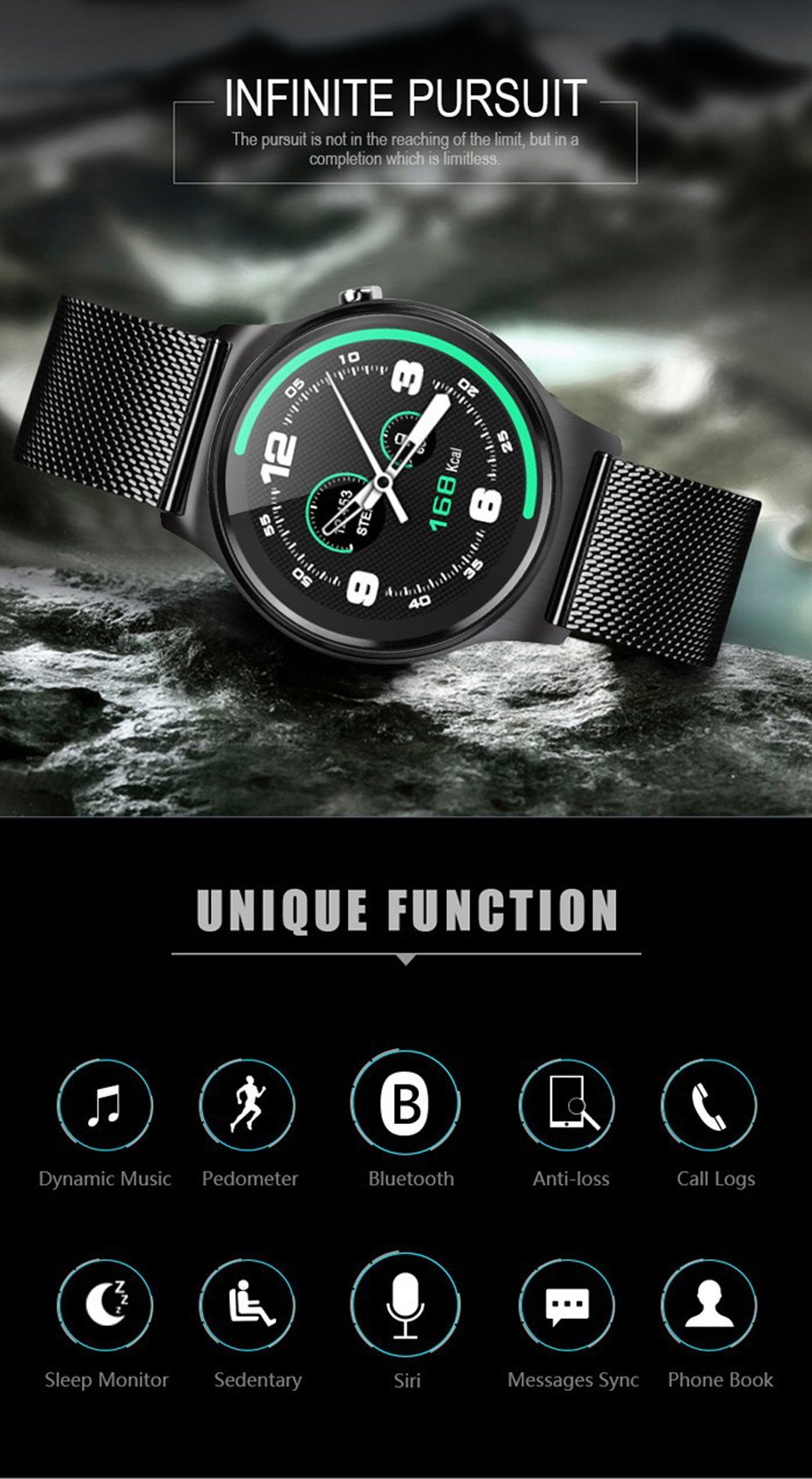 GW01 K88H plus Men Women Sport Smart Watch Wearable Device Touch Clock Bluetooth Connectivity for iPhone Android Phone Amazfit