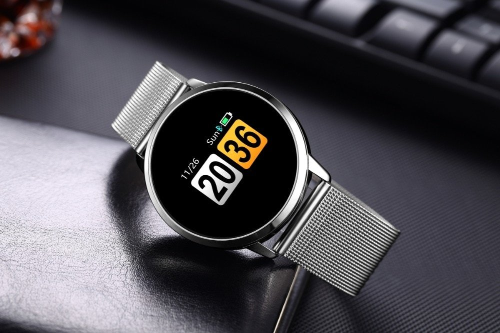 XIYAN Q8 OLED Screen Smartwatch Heart Rate Monitor Smart Watch Sport Fitness Men Women Wearable Devices for IOS Android