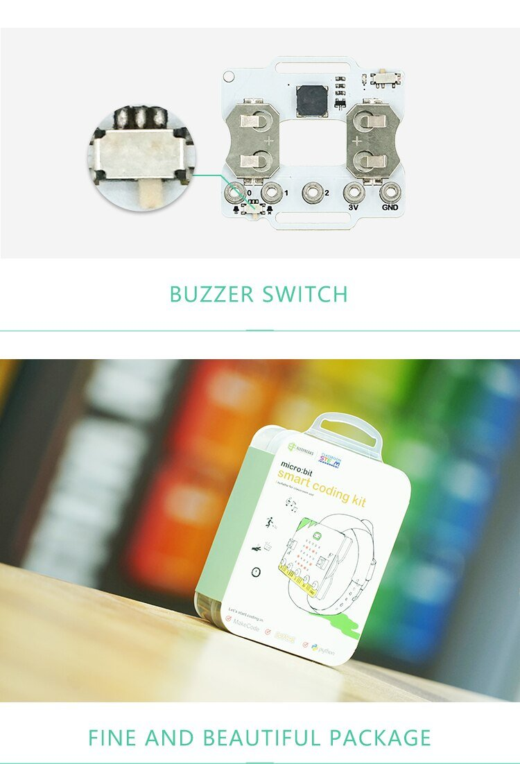 micro:bit smart coding kit DIY Watch Wearable Device Based On Button Cell Extension Baord Pro Fit for Scratch 3.0
