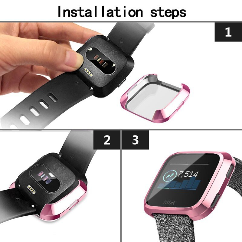 2018 New Fashion Soft Plating Tpu Protection Silicone Case Cover For Fitbit Versa Wearable Devices Smartwatch Watch Phone
