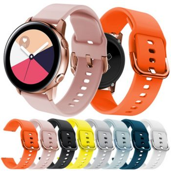 20mm watch strap for sumsang galaxy active 2 40 44 mm silicone wrist strap for galaxy active 1 42 46 smart wearable accessories