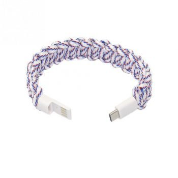Braided Bracelet Phone USB Charging Data Cable Accessories Fashion Outdoor Wire Fast Portable Wearable Type C Travel For HUAWEI