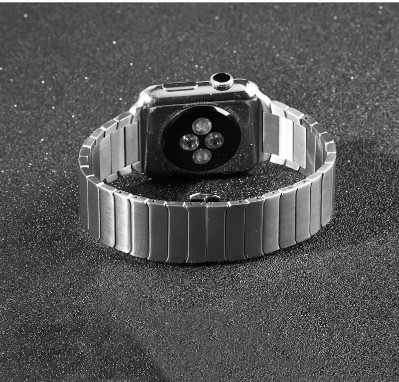 Stainless Steel strap for Apple Watch band 5 4 44mm 40mm iWatch 3 2 band 42mm/38mm Butterfly buckle Metal Bracelet Accessories