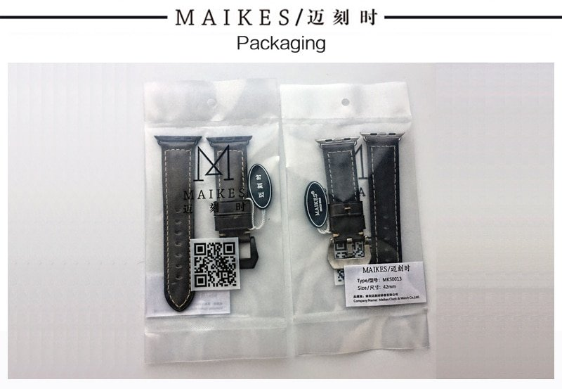 MAIKES genuine cow leather watch accessories for apple watch strap 40mm 38mm brown apple watch band 44mm 42mm iwatch 4 bracelet
