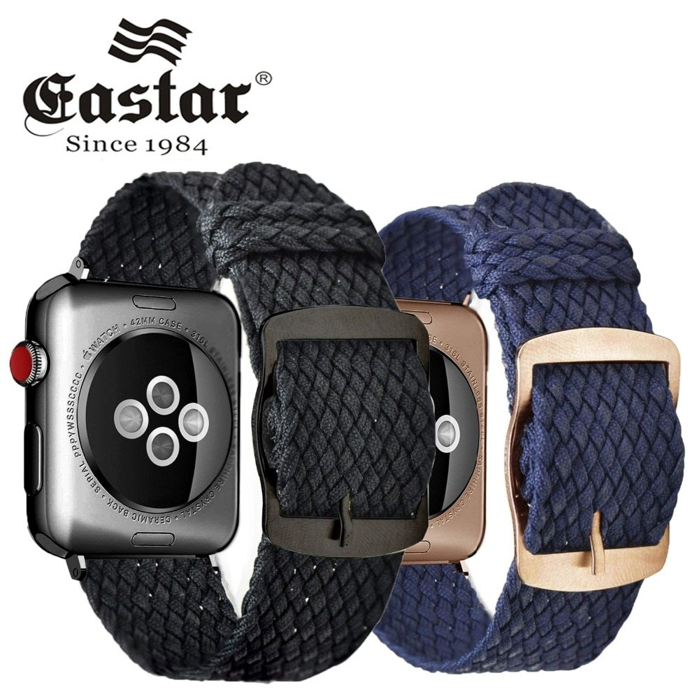 Fashion Loop strap Nylon wrist bracelet watch Accessories for Apple Watch band 1/2/3 42mm 44mm for iwatch band 4/5 38mm 40mm