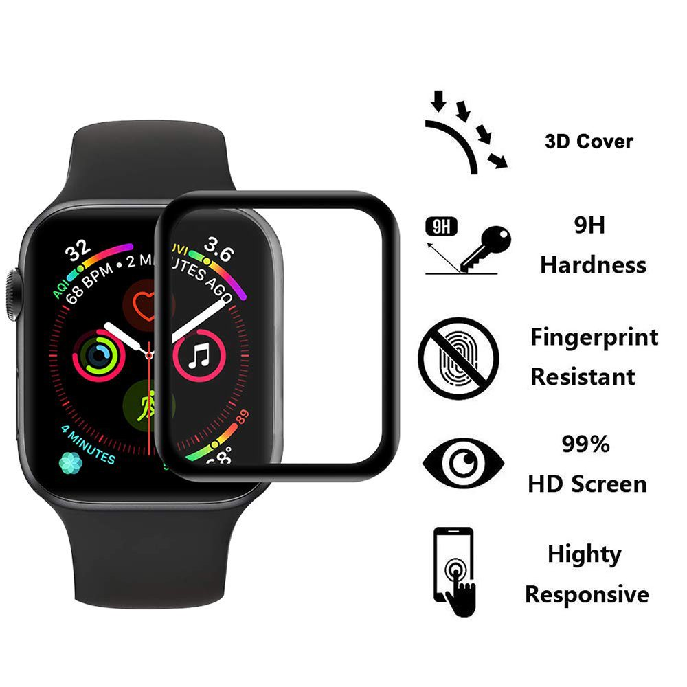 3D HD Tempered Glass Case for Apple Watch Series 3 2 1 38MM 42MM Screen Protector Film for IWatch 5 4 44MM 40MM Watch Accessorie
