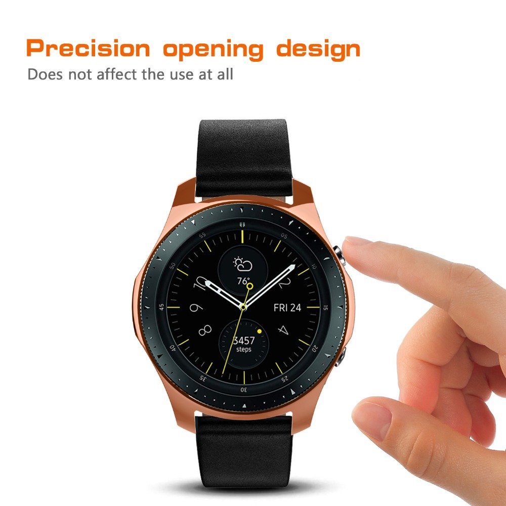 Case For Samsung Galaxy Watch 46mm 42mm bumper Smart Watch Accessories Plating TPU protection shell Protective Cover frame