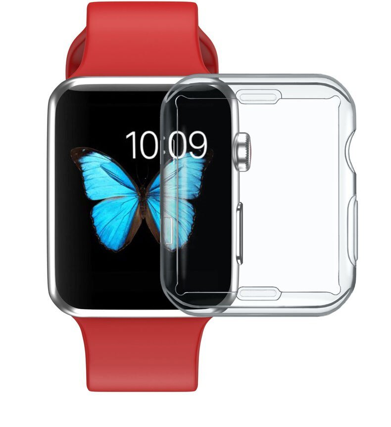 Silicone cover For apple watch case 4 5 44mm 40mm iwatch 42mm 38mm All-around Ultra-thin Clear apple watch 4 5 3 2 Accessories