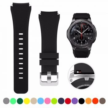 22mm 20mm watchband For Samsung galaxy watch 46mm 42mm active 2 strap silicone belt Gear S3 frontier huawei watch gt 2 strap