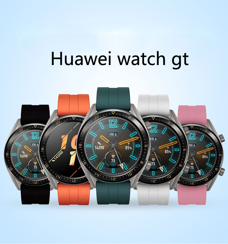 Huawei Watch GT Strap for samsung galaxy watch 46mm amazfit bip Strap silicone 22mm watch band gear S3 smartwatch Bracelet