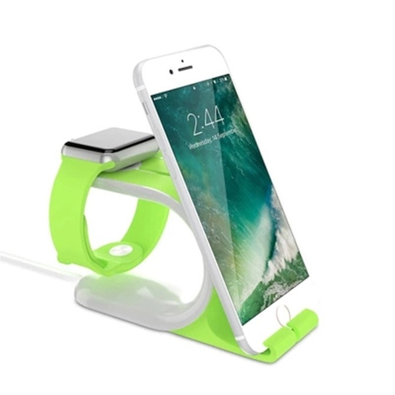 2 in 1 Multi Silicone Stand for iWatch 4 3 2 1 Holder for Apple Watch 4 3 2 1 Accessories for iPhone 38MM 40MM 44MM 42MM