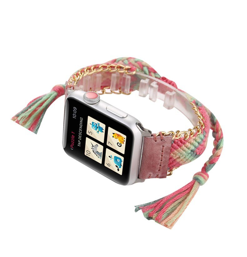Nylon strap for apple watch 4 band 44mm 40mm iwatch band 42mm 38mm handmade colorful bracelet apple watch 4 3 5 2 Accessories