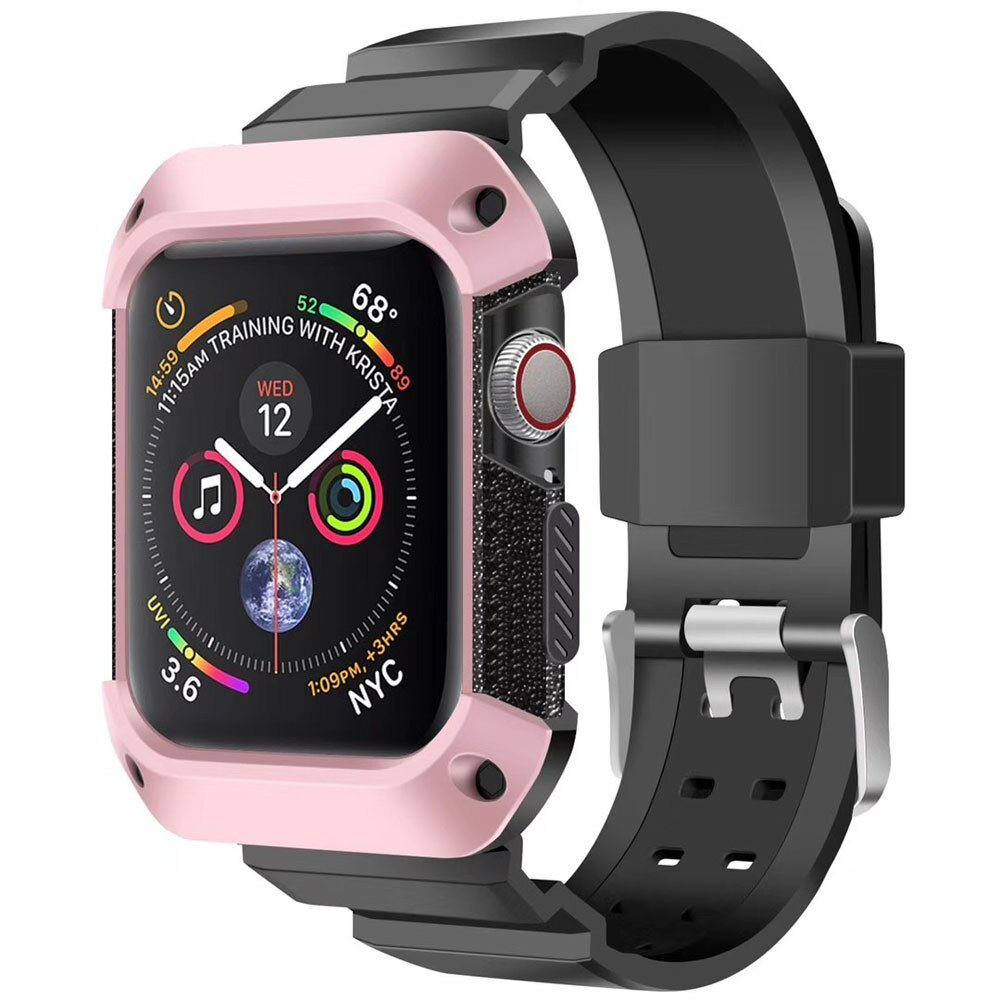 Sport strap For Apple Watch 5 4 band Case iwatch 44mm 40mm band Rugged TPU Protective cover watchBand bracelet Accessories