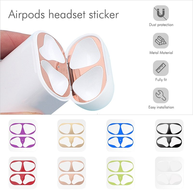 Dust Guard Protective Scratch Proof Stickers For AirPods